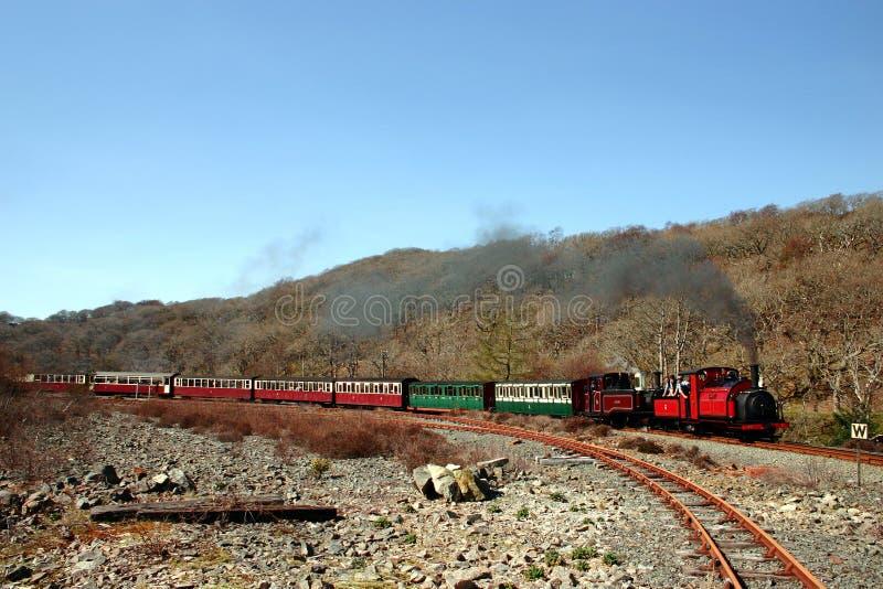 De Trein van de stoom in Bergen 5 royalty-vrije stock foto's