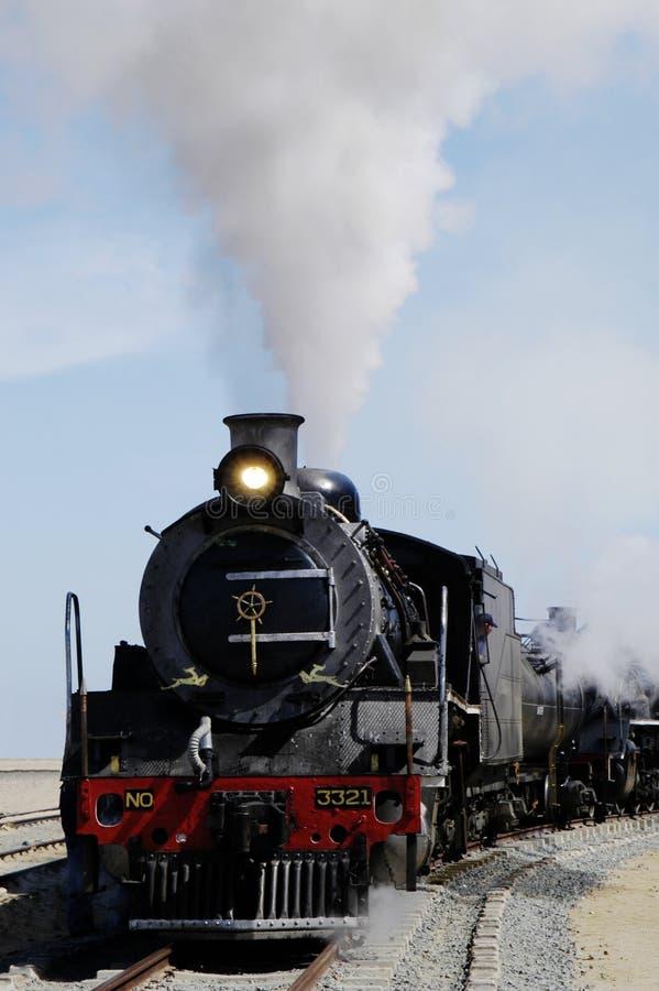 De trein van de stoom in Swakopmund, Namibië stock foto