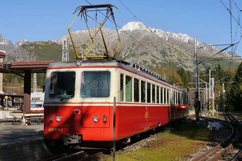 De trein van de tandradspoorweg royalty-vrije stock fotografie