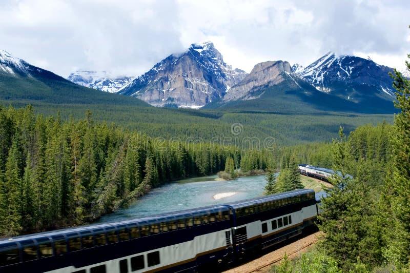 De trein van de vakantie stock afbeeldingen