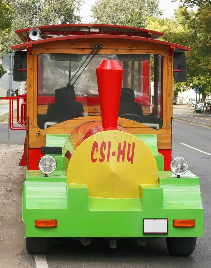 De trein van de weg. royalty-vrije stock fotografie