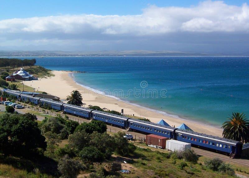 De trein van het strand royalty-vrije stock foto