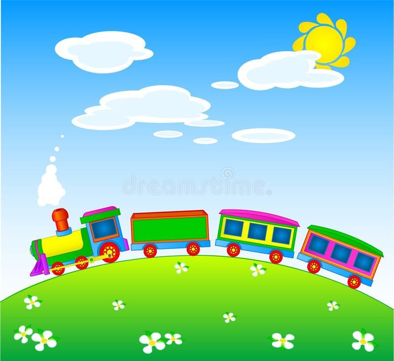 De trein van het stuk speelgoed stock illustratie