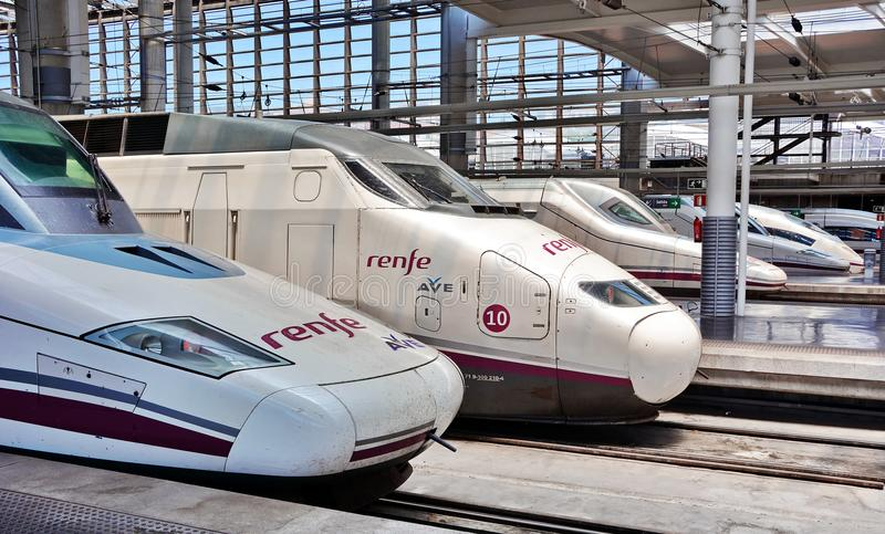 De trein van de hoge snelheid van China stock foto's