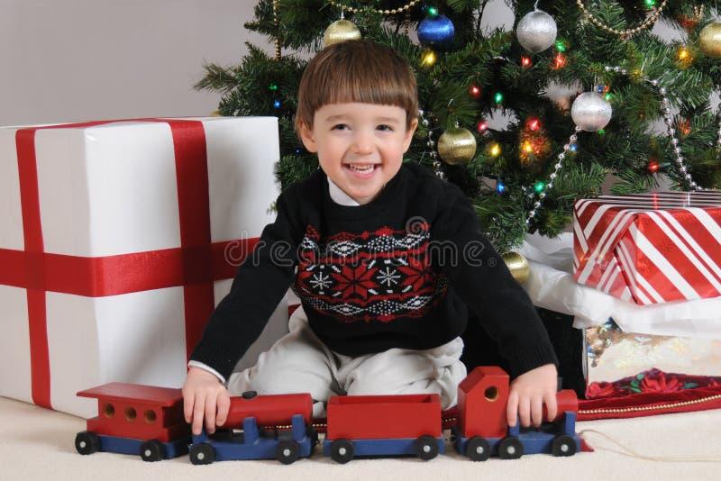 De Trein van Kerstmis stock fotografie