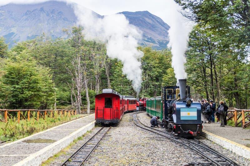De trein van de toeristenstoom stock foto's