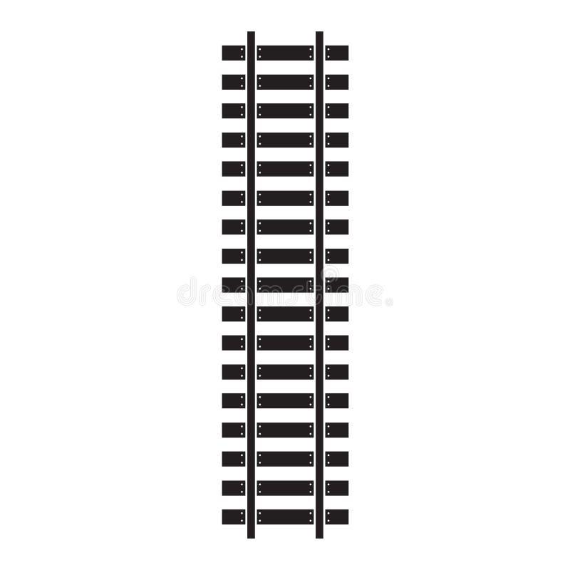 De trein volgt pictogram vector illustratie