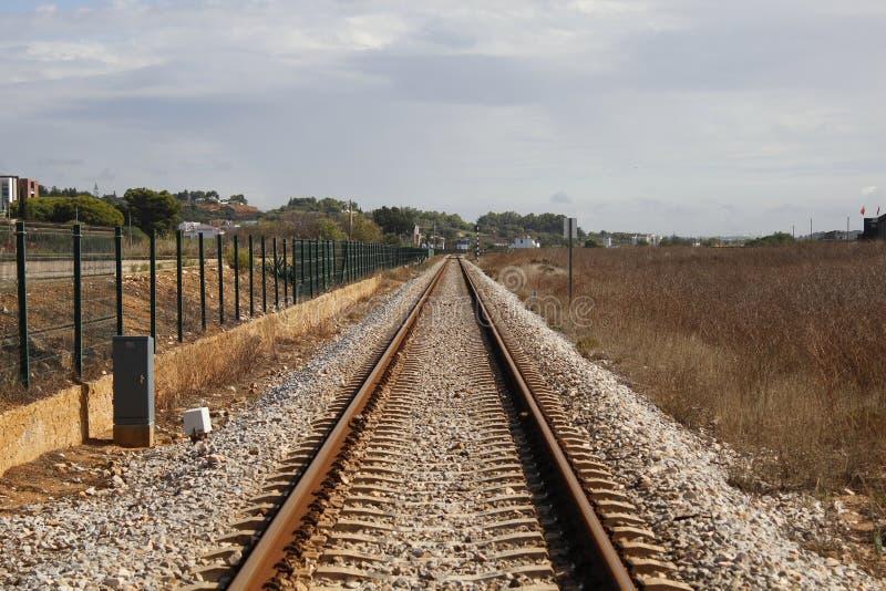 De treinlijn stock fotografie