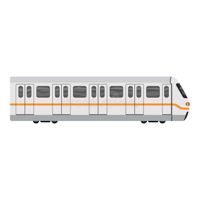 De treinpictogram van de metrostad, beeldverhaalstijl vector illustratie