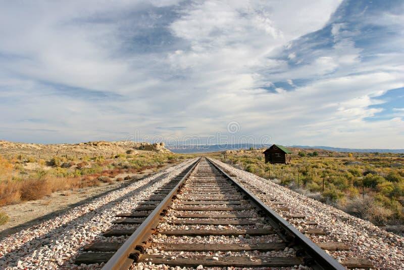 De treinsporen van midwesten stock afbeelding