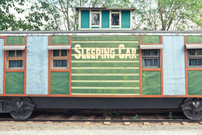 De Treinwagen Van De Slaap Stock Afbeeldingen