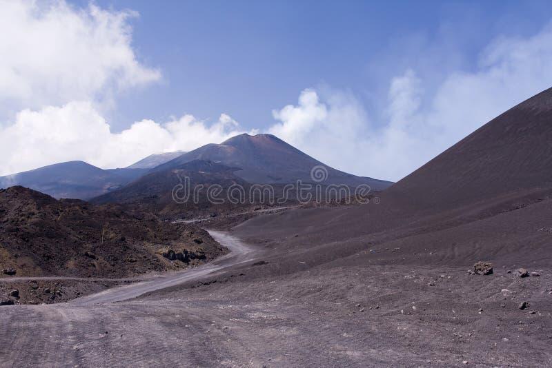 De trekking van Etna stock fotografie