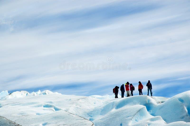 De trekking van het ijs, Patagonië Argentinië. royalty-vrije stock foto