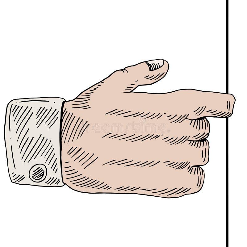 De Trekkracht van de vingerhand vector illustratie