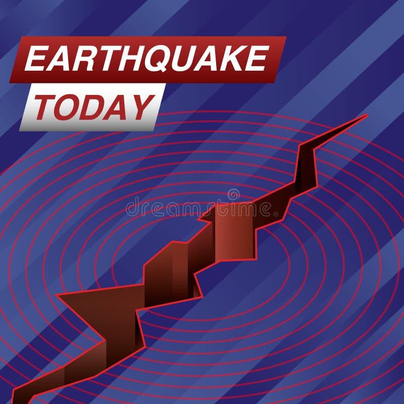 De tremblement de terre bannière d'actualités aujourd'hui illustration de vecteur