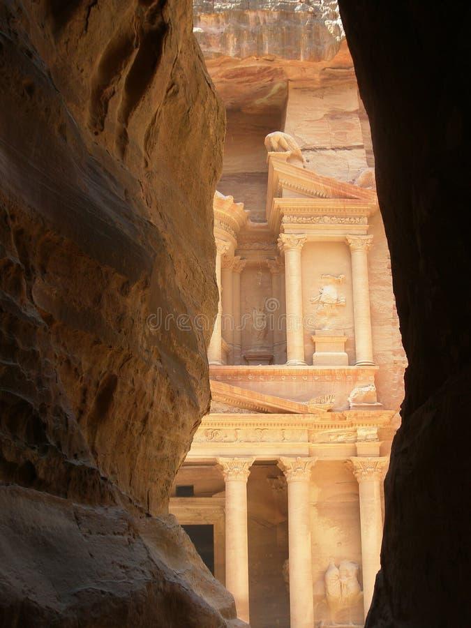 De Tresurybouw in Petra Jordan royalty-vrije stock foto's