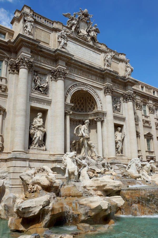 De Trevi Fontanna w Rzym obraz stock