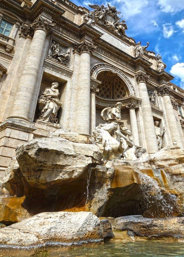 De Trevi Fountain在罗马,意大利 库存照片