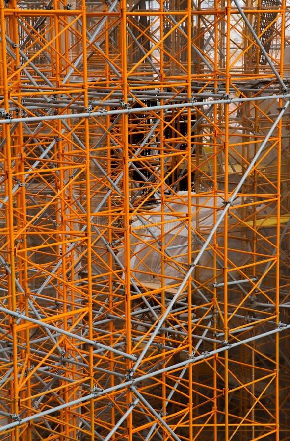 De tribune die van de bouw - aan Sagrada familia werkt stock fotografie