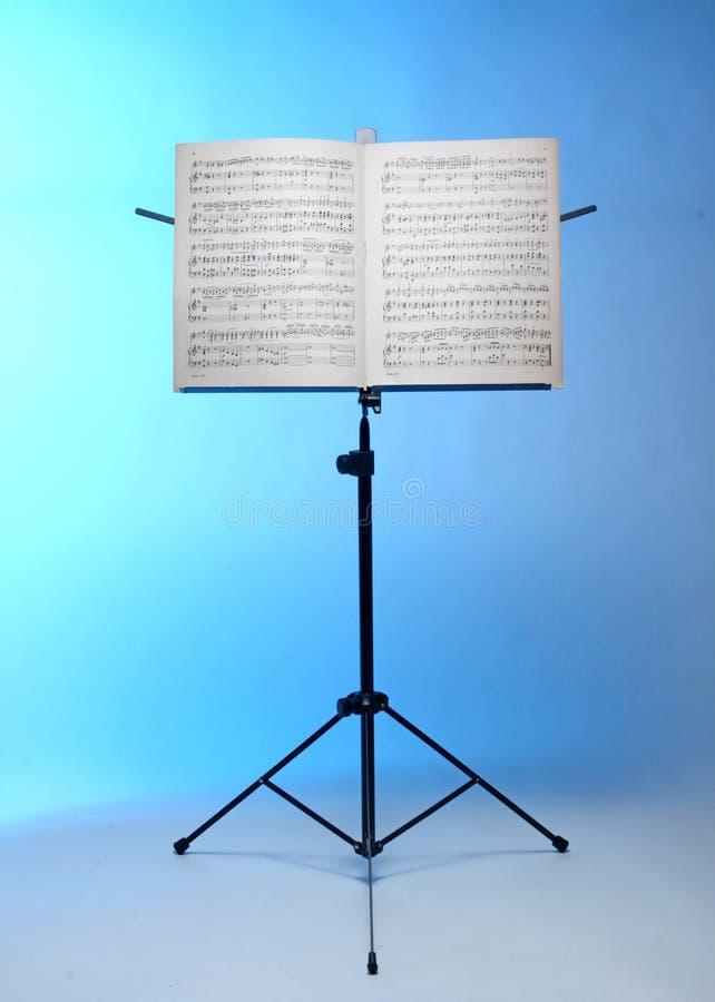 De tribune van de muzieknota royalty-vrije stock foto's