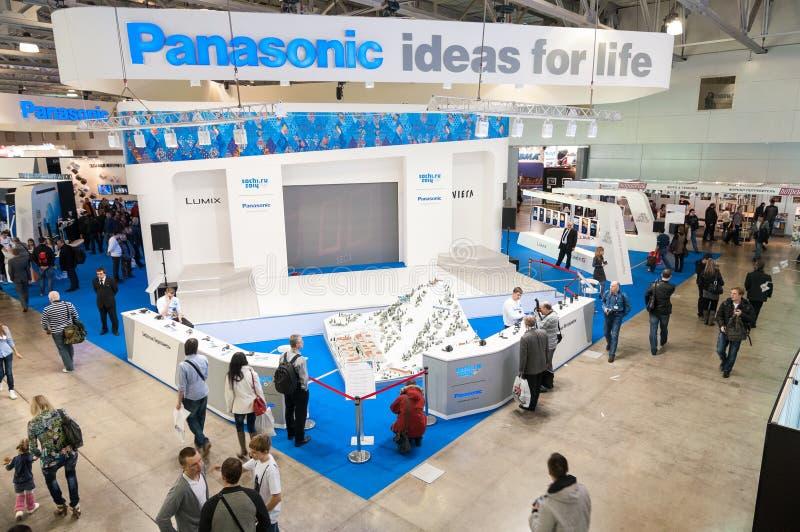 De tribune van Panasonic bij Foto Expo royalty-vrije stock foto's