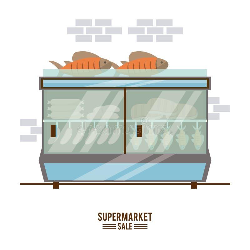 De tribune van de supermarktverkoop royalty-vrije illustratie