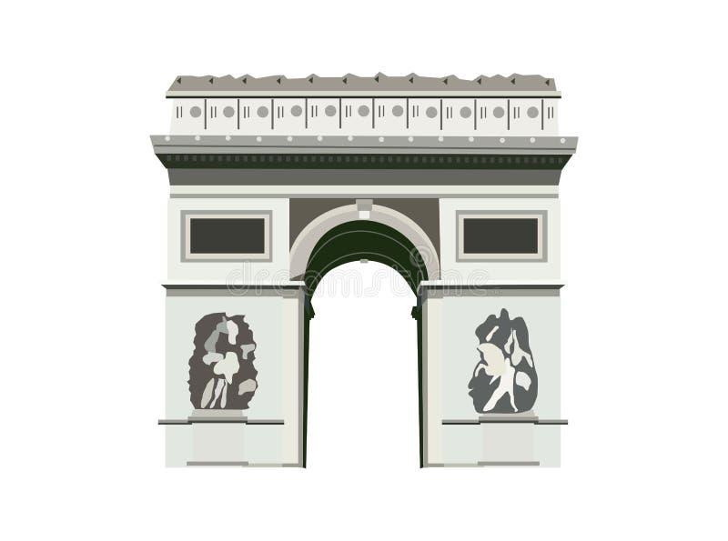 De Triomphe łuk paris royalty ilustracja