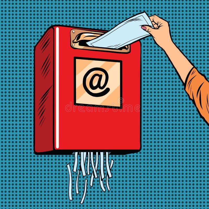 De troep e-mail van het spamafval stock illustratie