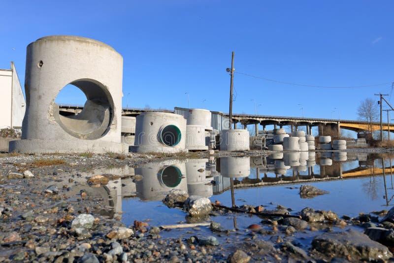 De Troepwerf van de rioolinfrastructuur royalty-vrije stock foto