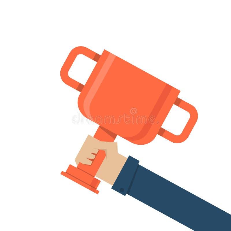 De trofee van de handholding vector illustratie