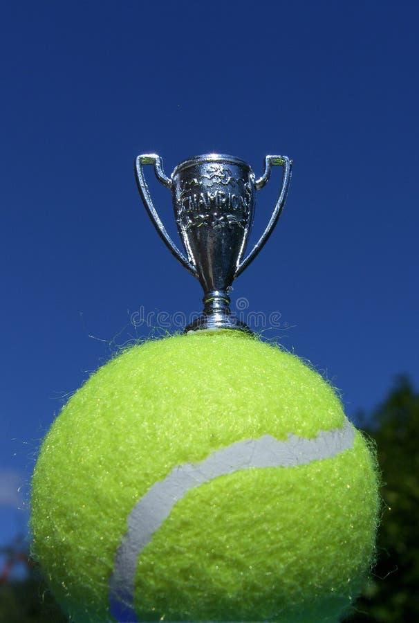 De Trofee van de Kampioen van het tennis stock afbeeldingen