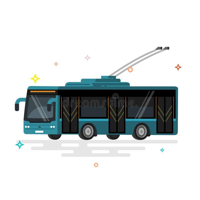 De trolleybus van het illustratie openbare vervoer stock illustratie
