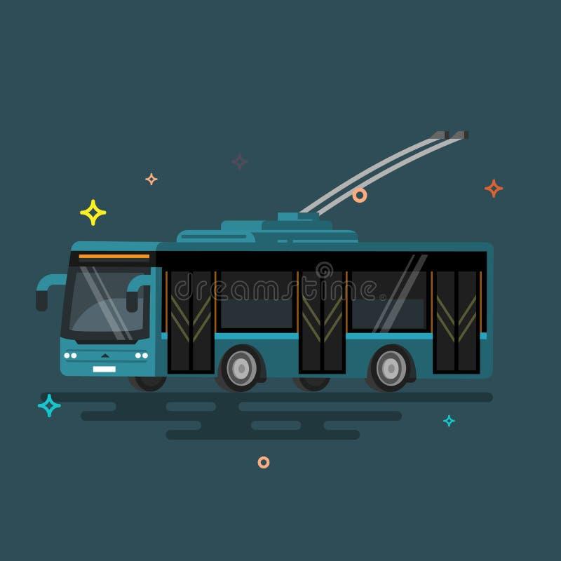 De trolleybus van het illustratie openbare vervoer royalty-vrije illustratie