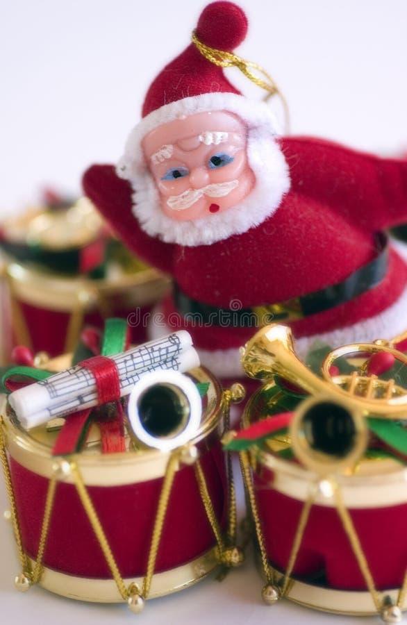 De Trommel & de Kerstman van Kerstmis stock foto