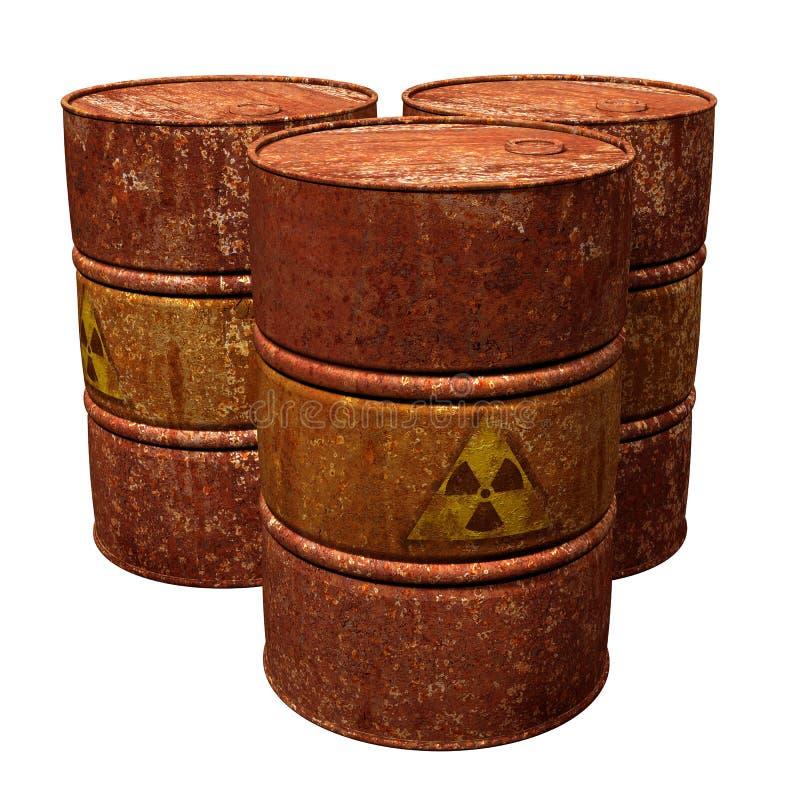 De Trommels van het giftige Afval stock foto