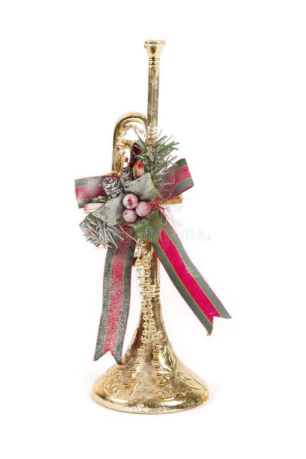 De trompet van Kerstmis royalty-vrije stock afbeeldingen