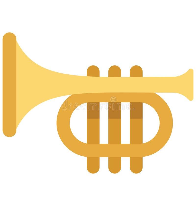De trompetvector isoleerde Vectorpictogrammen die gemakkelijk kunnen worden gewijzigd en uitgeven stock illustratie