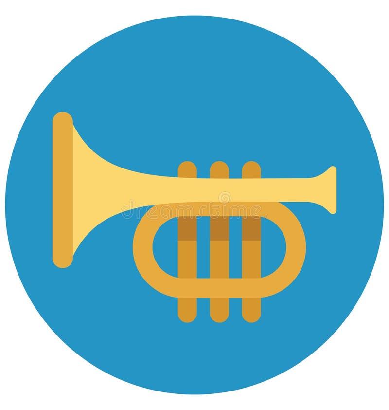 De trompetvector isoleerde Vectorpictogrammen die gemakkelijk kunnen worden gewijzigd en uitgeven vector illustratie