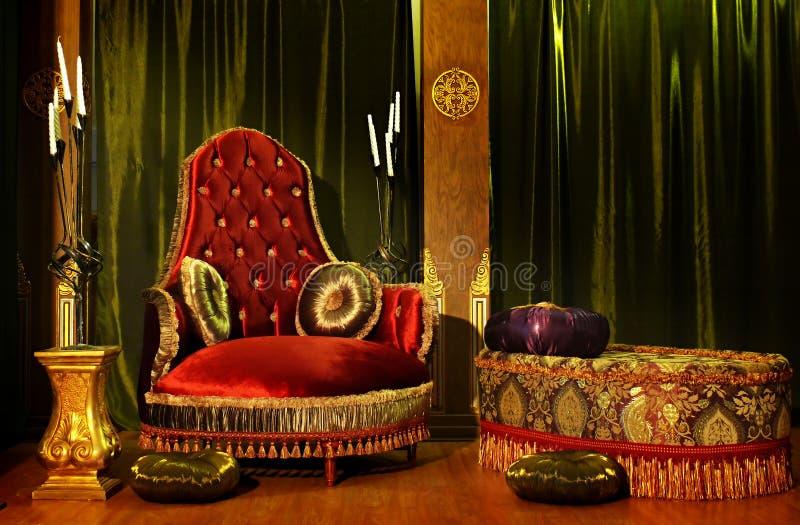 De troon royalty-vrije stock afbeelding