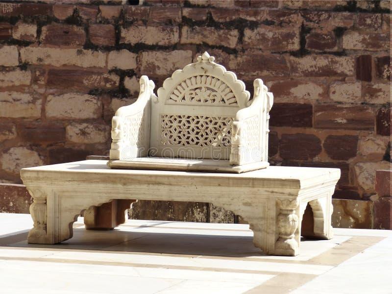 De troon van Maharana, Mehrangarh-Fort, Jodhpur royalty-vrije stock foto's