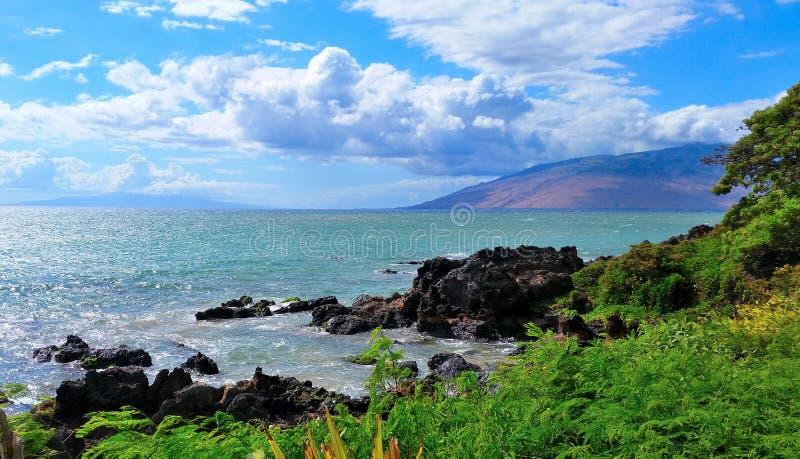 De tropische oceaan van Maui Hawaï, Landschap, cloudscape royalty-vrije stock fotografie