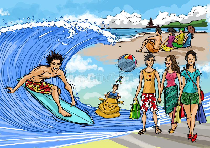 De tropische Scène van de Vakantie stock foto's
