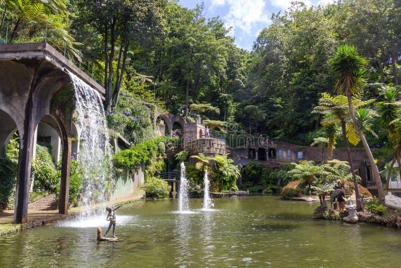 De Tropische Tuin van het Paleis van Monte royalty-vrije stock afbeeldingen