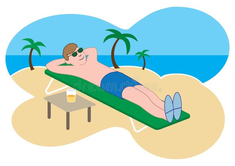 De tropische Vakantie van het Strand stock illustratie