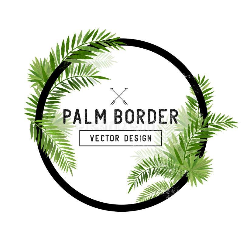 De tropische Vector van de Palmbladgrens