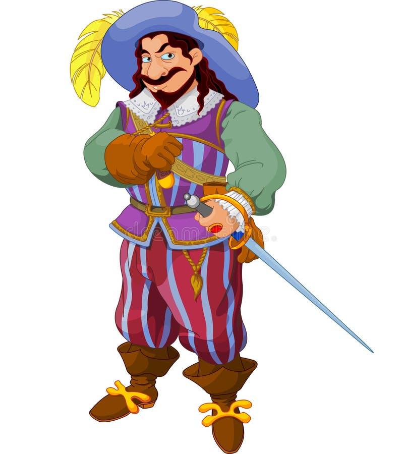 De trots van de musketier royalty-vrije illustratie