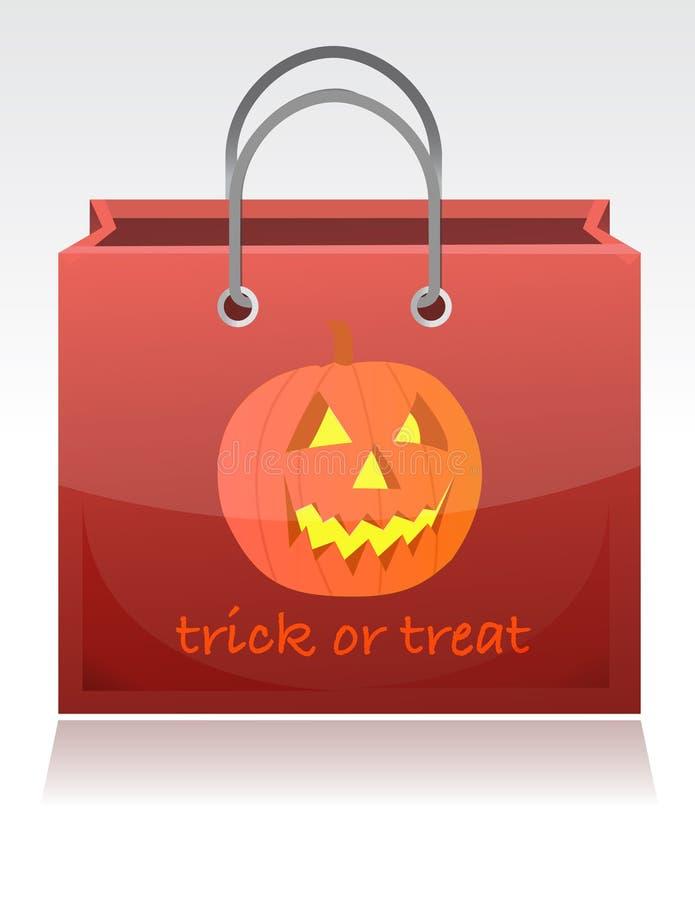 De truc van Halloween of behandelt zak vector illustratie