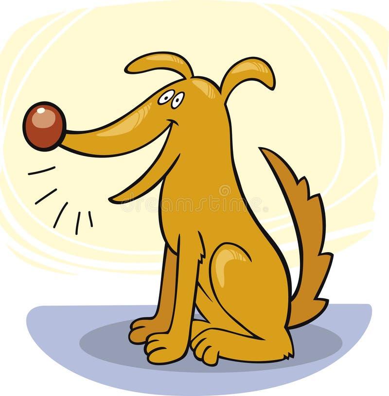 De trucs van de hond: schors stock illustratie