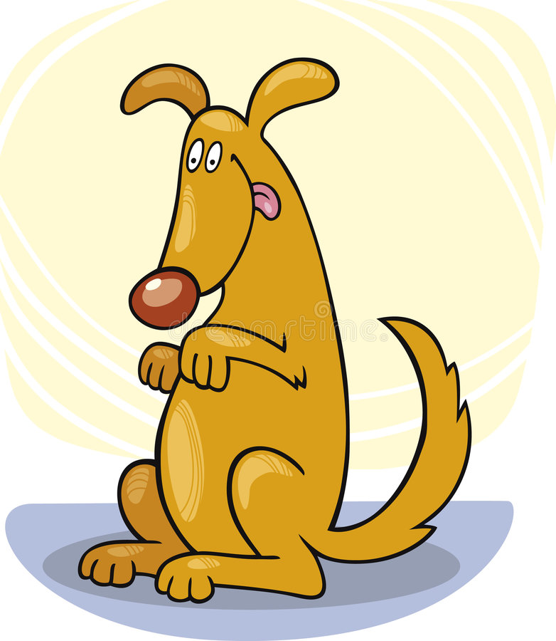 De trucs van de hond: tribune royalty-vrije illustratie