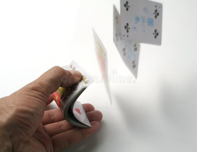 De trucsnadruk van speelkaarten royalty-vrije stock fotografie